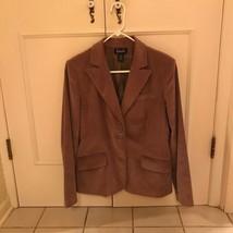 Women's Rafaellla Brown Carmel Corduroy 2 Button Blazer Sz 8 Jacket Flap... - $18.46