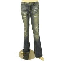 Dondup Blue Stand Art Denim Jeans Distressed Trousers Pants sz 26 P116 0... - $45.33
