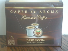 Caffe de Aroma Dark Mocha Coffee 12 Single Serve K-Cups Free Shipping  - $9.99