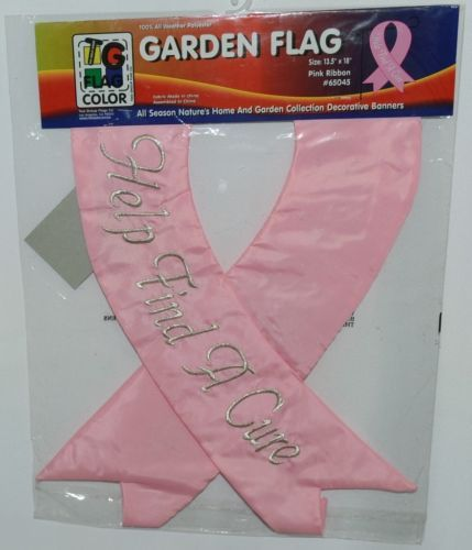 Two Group Flags Co 65045 Pink Ribbon Indoor Outdoor Decorative Banner