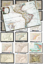 ANTIQUE MAPS-5 Collection of 147 large size images printable old ancient... - $1.98