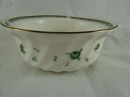 "Narumi Fine China Fruit Dessert Cereal Bowl 5"" Green Roses Gold Rim Ripp... - $14.84"