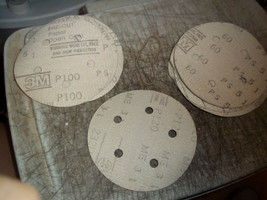"18pc 5"" Sanding Discs 5 Hole Abrasives 3M 60 P100 0120 Gator Grit 120 Sand Paper - $6.68"
