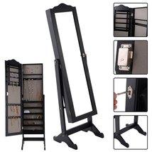 Eight24hours Lockable Mirrored Jewelry Cabinet Armoire Mirror Organizer ... - $172.99