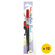 Pentel Arts XGFL-102 Refillable Calligraphy Fude Color Brush Pen (12pcs)... - $55.13