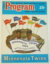 1966 Official Minnesota Twins Program Scorecard Unused v K.C. Athletics NM - $28.71