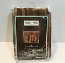 """Allen + Roth Modena Rod Pocket Valance Pair 2-54/18"""" Red Gold Striped Scalloped - $32.90"""