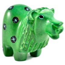 Tabaka Chigware Hand Carved Kisii Soapstone Green Lion Figurine Made in Kenya image 4
