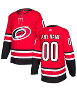 Customized carolina hurricanes men s authentic red home jersey thumbtall