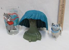 Pocahontas Burger King Disney Willow Tree Raccoon Meeko Glass Bull Dog Toy Lot 3 - $12.86