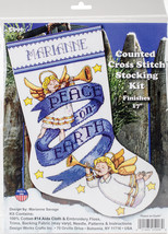 """Design Works Counted Cross Stitch Kit 17"""" Long-Peace on Earth (14 Count) - $22.68"""