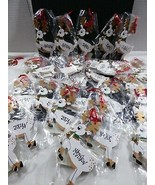 Lot of 29 Reindeer Wood Ornaments Handcrafted Holiday Christmas Tree Decor - $39.60