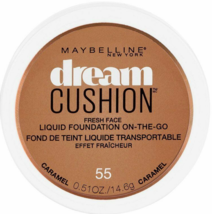 2 Maybelline Dream Cushion Liquid Foundation 0.51 oz - 55 Carmel - 2 Total - $9.95