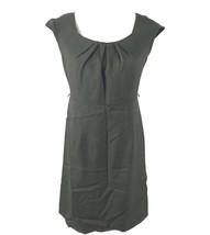Karin Stevens Petites Womens 6P Cap Sleeves Sheath Dress Brown Pleated N... - $9.89