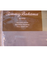 Tommy Bahama Relaxed Cotton Chambray Sky Blue Sheet Set Full - $67.00