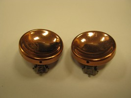 RENOIR COPPER CIRCLE CLIP EARRINGS BUTTON STYLE - $14.85