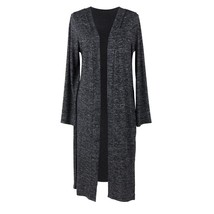 Hello Mello Carefree Threads Long Cardigan-Large Black - $29.99