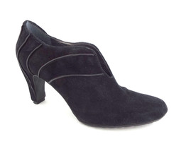 TSUBO Size 8 Black Suede Ankle Booties Pumps Shoes - $49.00