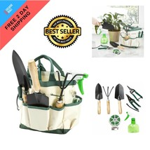 "8 Piece Garden Tool and Tote Set 8.25"" Canvas Storage Gardening Tools Pl... - €12,61 EUR"