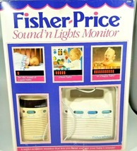 Vtg Fisher Price Baby Monitor Sound 'N Lights 1550 Transmitter Receiver - $17.33