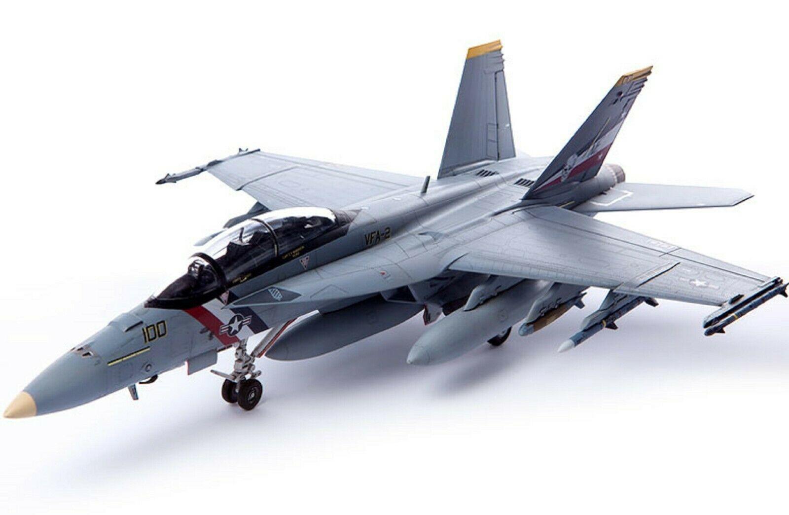 Academy 12567 USN F/A-18F VFA-2 Bounty Hunters Plamodel Plastic Hobby Model
