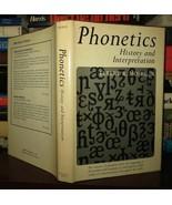 Moses, Elbert R.  PHONETICS  1st Edition 1st Printing - $69.95