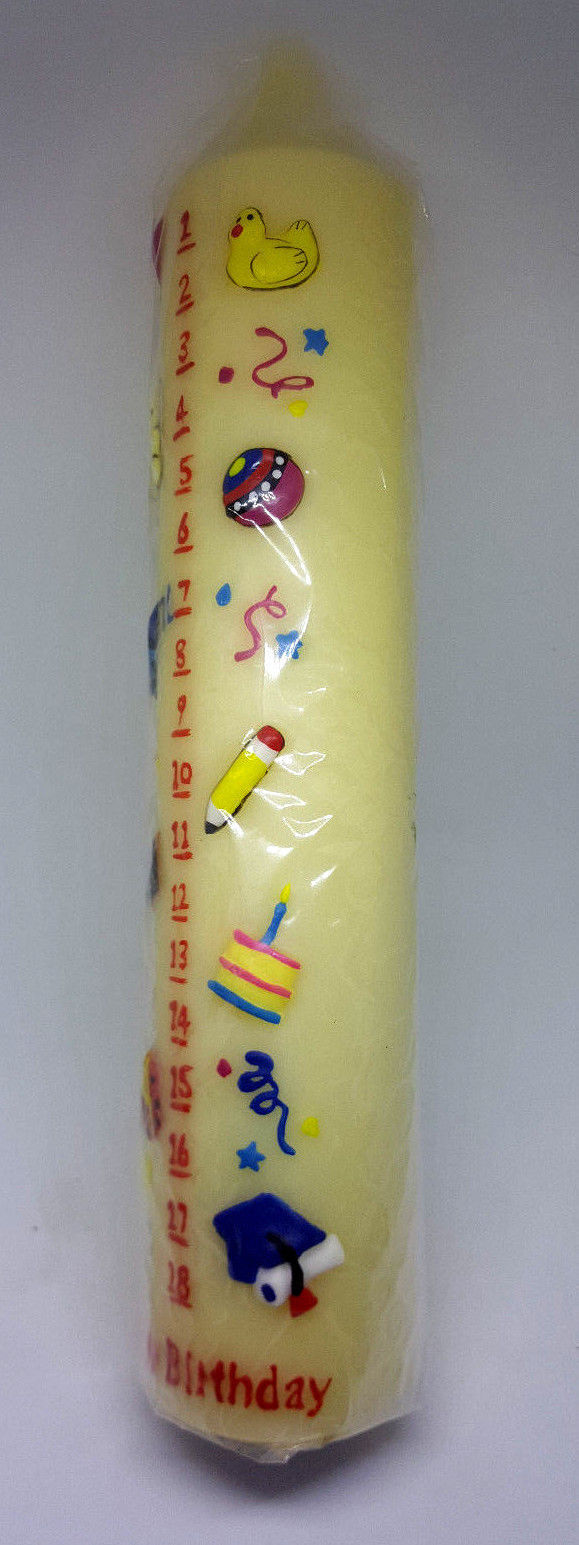Vintage Lillian Vernon Birthday Candle - Marks Baby 1 Year Old - 18 Years Old