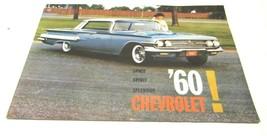 1960 Chevrolet Brochure Space Spirit Splendor - $14.52