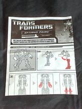 Hasbro Trasformatore Robot Optimus Prime Livello 5 Autobot Istruzioni Da... - $6.59