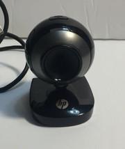HP HD-2200 WEBCAM BLACK/SILVER DC-B610 -- TESTED/WORKING - $9.46