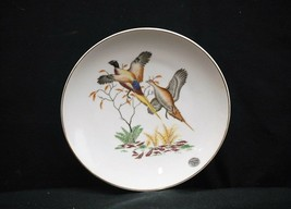 Old Vintage Hand Painted Pheasant Bird Plate w Gold Trim by Enesco ~ Japan - $16.82