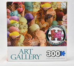 Sure Lox Art Gallery 300 piece Jigsaw Puzzle Ice Cream Cones NIB Sealed - $29.65
