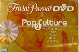 NEW TRIVIAL PURSUIT DVD POP CULTURE - TV, MOVIES, MUSIC AND MORE - $14.50