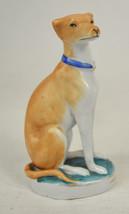 Staffordshire Ceramic Greyhound Whippet Dog Figurine Brown Antique - $115.17