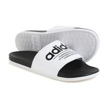 Adidas Adile Comfort Men's Slide Flip Casual Sandals Soft White Slipper ... - $59.99