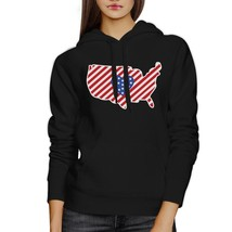 Heart USA Map American Flag Unique 4 Of July Cute Design Hoodie - $25.99+