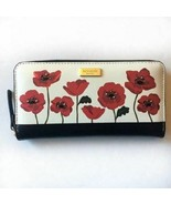 Kate Spade Neda ooh la la poppy Wallet smooth leather NWT - $138.59