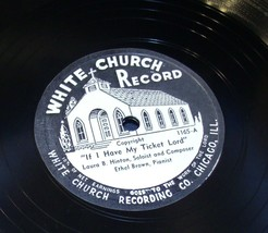 White Church Record # 1165 AA-191720Q Vintage Collectible image 1