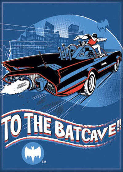 Primary image for Batman 1960's TV Series To The Batcave Art Image Refrigerator Magnet NEW UNUSED