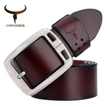 COWATHER cowhide genuine leather belts for men brand Strap male pin buck... - $31.00
