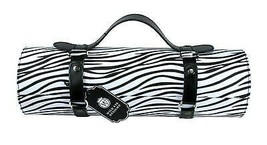 "Wild Eye 13.25"" Fashion Avenue Black Zebra Print Wine Bottle Carrier Purse - $43.30"