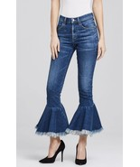 NWT CITIZENS of HUMANITY DREW FLOUNCE CHACHACHA HIGH RISE CROP FLARE JEA... - $161.49