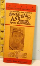 1942 Black's Annual Baseball Schedule & Sports Info Stan Musial Cover #C - $34.65