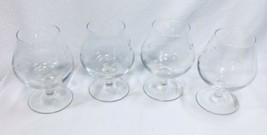Princess House Heritage Brandy Snifters Glasses set of 4 Etched Crystal - $24.18