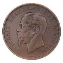 1866-M Italy 10 Centesimi in XF Condition KM #11.1 - $79.20