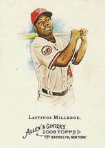2008 Topps Allen and Ginter #248 Lastings Milledge  - $0.50