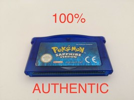Pokemon Sapphire Authentic Game   New Battery   GBA Nintendo Gameboy Adv... - $31.99