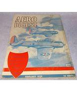 Aero Digest Vintage Aviation Magazine February ... - $9.95