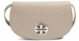 TORY BURCH Jamie Leather Clutch Bag in French Grey - $316.79
