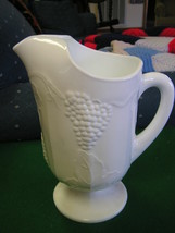 Great WESTMORELAND Grapes Design Footed PITCHER........SALE - $13.86